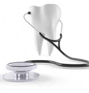 Tooth with stethoscope