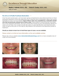 Referring Dentist Newsletter Winter 2011