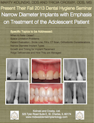 Narrow Diameter Implants with Emphasis on Treatment of the Adolescent Patient Document