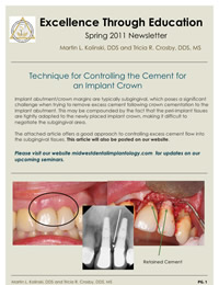 Referring Dentist Newsletter Spring 2011