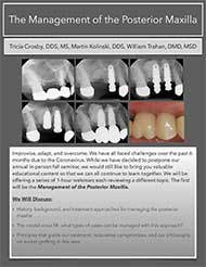 2020 Fall Virtual Seminar – The Management of the Posterior Maxilla Document