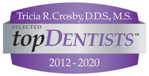 Dr. Crosby was selected as a Top Dentist